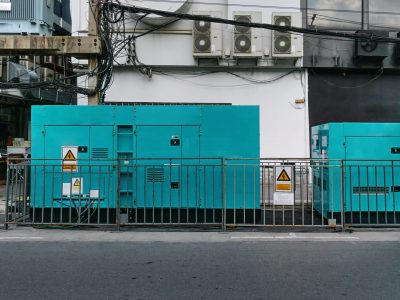Mobile Unit of Emergency Electric Power Generatot at Site